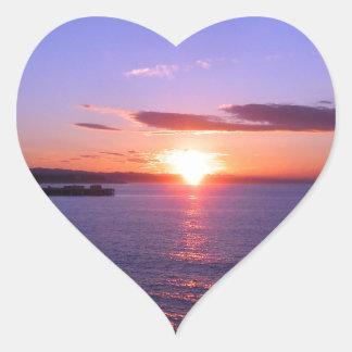 Morning Sunrise Heart Sticker