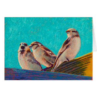 Morning Sunshine English Sparrows Card