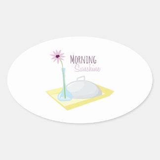 Morning Sunshine Oval Sticker