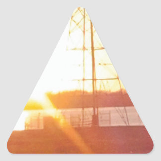 Morning Sunshine Triangle Sticker
