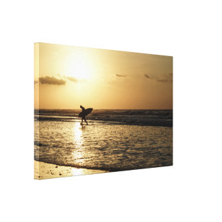 Morning Surfer Canvas Print