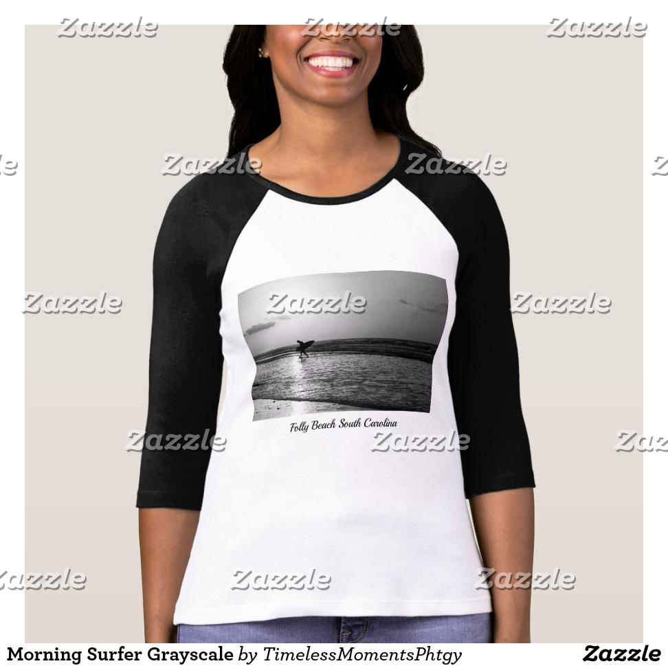 Morning Surfer Grayscale T-Shirt - Best Selling Long-Sleeve Street Fashion Shirt Designs
