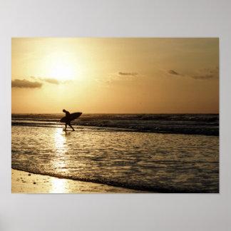 Morning Surfer Poster