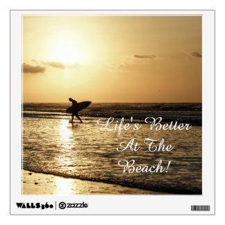 Morning Surfer Wall Sticker