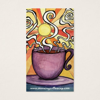 Morning swirl sun Coffee Cup House Business Card