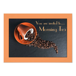 "Morning Tea coffee date cafe party 5"" X 7"" Invitation Card"