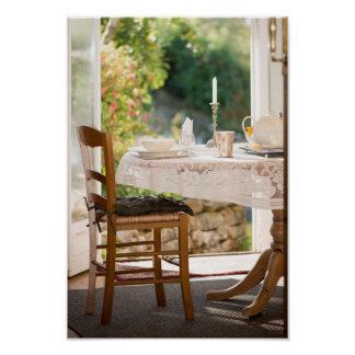 Morning Tea in the Sun Art Photo Print Poster