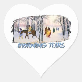 Morning Tears Heart Sticker