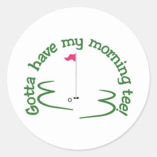 Morning Tee Classic Round Sticker