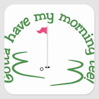 Morning Tee Square Sticker