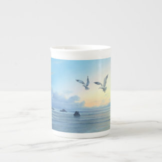 Morning Tides Beach Theme Kitchen Drink-ware Porcelain Mugs