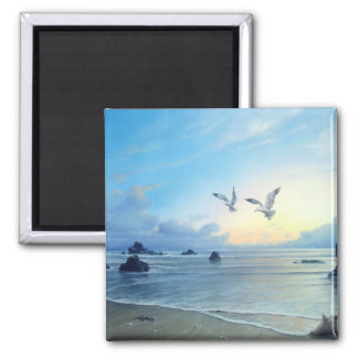 Morning Tides Beach Theme Kitchen Magnets