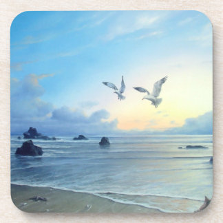 Morning Tides Beach Theme Plastic Coasters
