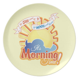 Morning Time Plate