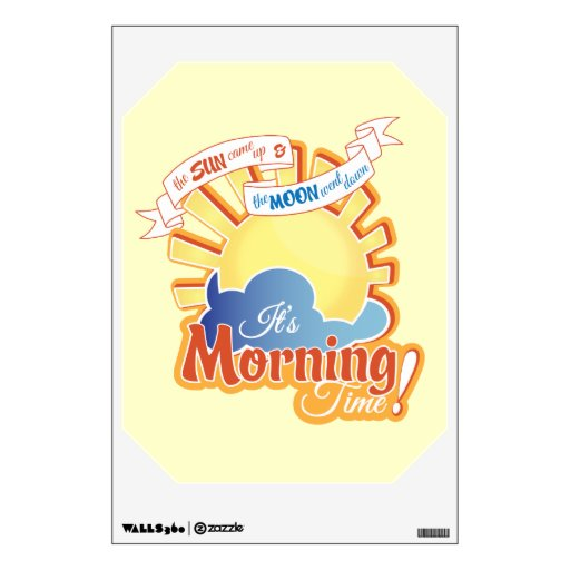 Morning Time Wall Decal