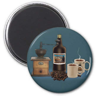 Morning to Evening Coffee 2 Inch Round Magnet