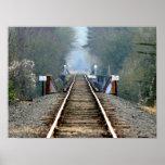 Morning Tracks Poster