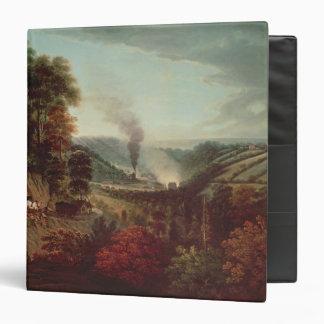 Morning view of Coalbrookdale, 1777 3 Ring Binder