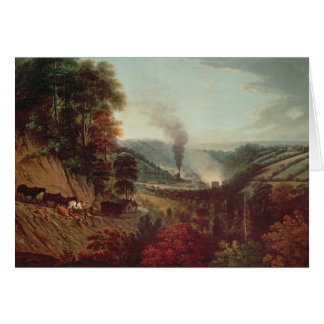 Morning view of Coalbrookdale, 1777 Card