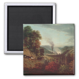 Morning view of Coalbrookdale, 1777 Magnets