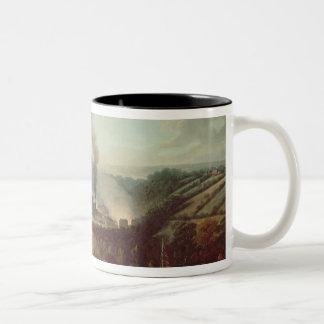 Morning view of Coalbrookdale, 1777 Two-Tone Coffee Mug