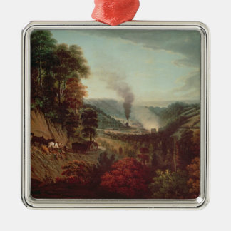 Morning view of Coalbrookdale, 1777 Christmas Tree Ornaments