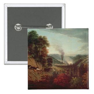 Morning view of Coalbrookdale, 1777 Pinback Button