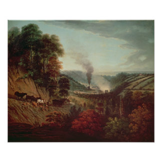 Morning view of Coalbrookdale, 1777 Posters