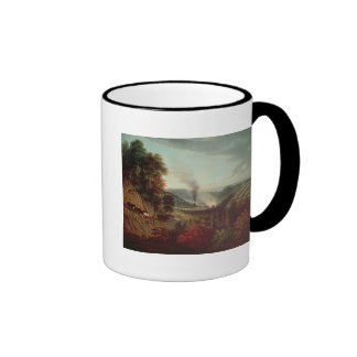 Morning view of Coalbrookdale, 1777 Ringer Mug
