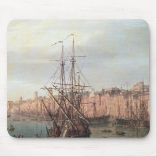 Morning View of the Inner Port of Marseille Mouse Pad