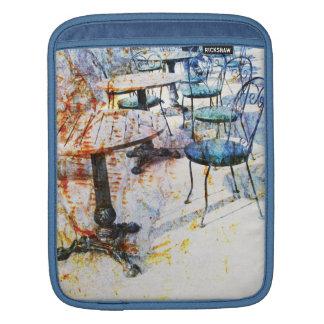 morning vintage french cafe iPad sleeve