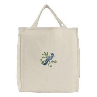 Morning Visit 2 Embroidered Tote Bag
