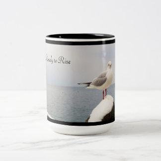 Morning Visitor Two-Tone Coffee Mug