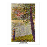 Morning Walk By Georges Seurat Post Card