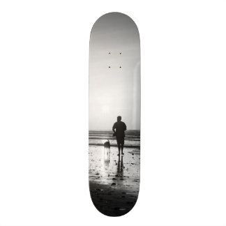 Morning Walk Grayscale Skateboard