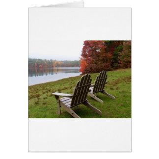 Morning Walk in Autumn Card