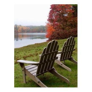 Morning Walk in Autumn Postcard