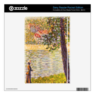 Morning walk (The Seine at Courbevoie) by Seurat Skin For Sony Reader