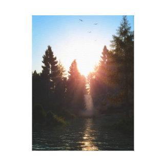 Morning Waterfall Canvas Print