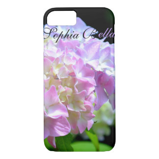 Morning Whisper - Hydrangea -monogrammed iPhone 8/7 Case