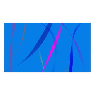 Morning Wind Cerulean Blue Business Card Template
