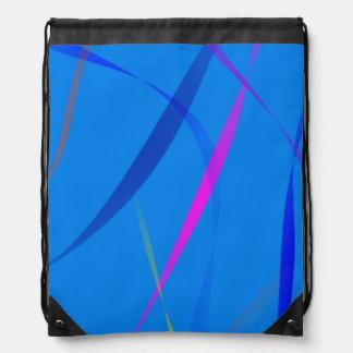 Morning Wind Cerulean Blue Drawstring Bag