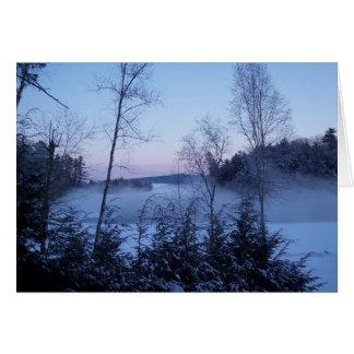 Morning Winter Fog Card