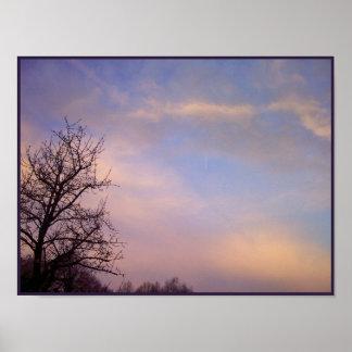 Morning Winter Sky 1 Poster