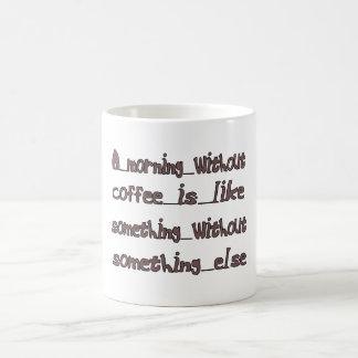 Morning Without Coffee Coffee Mug