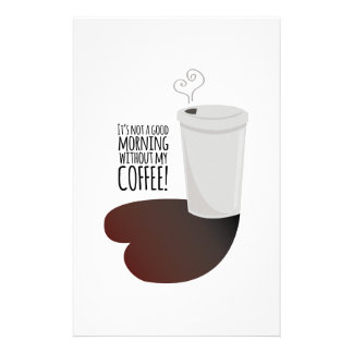 Morning Without Coffee Stationery Design