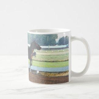 Morning workout - harness racing mug