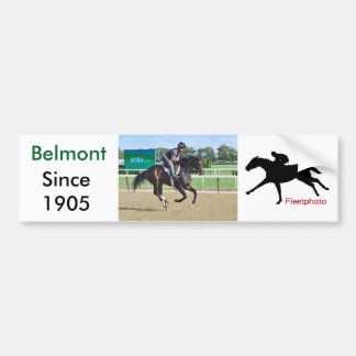 Morning Workouts at Belmont Bumper Sticker