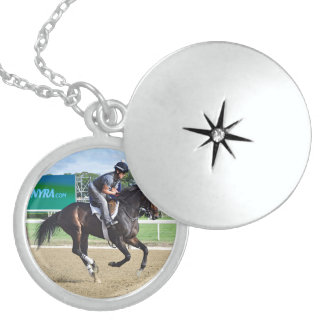 Morning Workouts at Belmont Round Locket Necklace