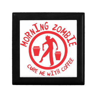 MORNING Zombie Cure me with coffee! Jewelry Box